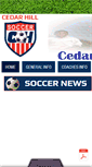 Mobile Preview of cedarhillsoccer.org