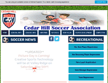 Tablet Preview of cedarhillsoccer.org